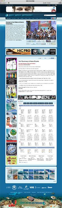 Hawaii Web Design Surf News Network