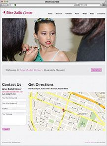 Hawaii Web Designer Alive Ballet Center