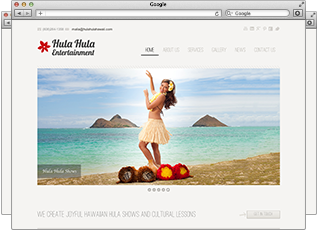 Web Design - Hula Hula Hawaii