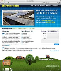 Hawaii Web Designer Hawaii Solar