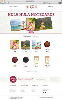 Hawaii Web Designer hula hula shop