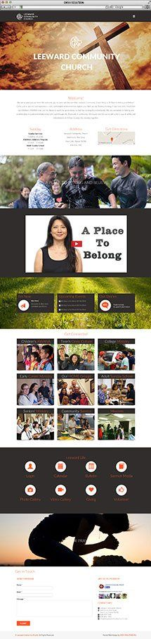 Hawaii Web Design for Leewarc Community Church